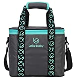 Wawoo®Professional Insulated Specialized PTP(Aluminum Foil) Insulated Water-Proof Lining Lunch Box Bag Cooler Tote Travel Picnic Bag Breast Milk Storage Carring Shoulder Bag Camping Picnic Lunch Bag for Barbecues Festivals Day Trips Caravan or Boat Super Large Capacity 12000ml 29*17*25cm Dark Grey