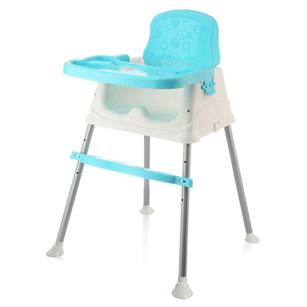 Liuxina Kids' Desk & Chair Sets Highchair Tray Baby High Chair 3-in-1 Multi-Functional Adjustable Non-Slip Baby Feeding Dinner Table Chair (Color : Blue, Size : 566089cm) by Liuxina