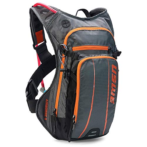 USWE Airborne 9L with accessible phone pocket (Gray/Orange) by USWE
