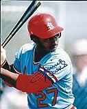 Autographed Lonnie Smith 8X10 St. Louis Cardinals Photo