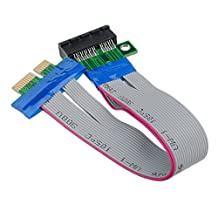 CoCocina PCI-E 1X Slot Riser Card Extender Extension Ribbon Flex Relocate Cable