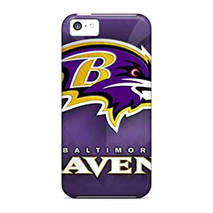 Shock Absorbent Cell-phone Hard Cover For Iphone 5c (FBl48RrOG) Support Personal Customs Lifelike Baltimore Ravens Series