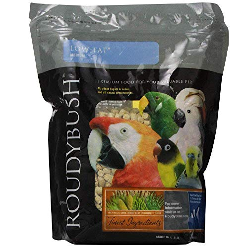 Bird Low Fat Food - RoudyBush Low Fat Bird Food, Medium, 10-Pound