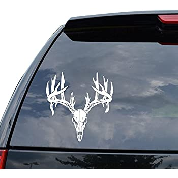 Amazoncom Deer Buck Antlers Skull Hunting Car Truck Window - Rear window hunting decals for truckstruck decals stickers rear window graphics legendary whitetails