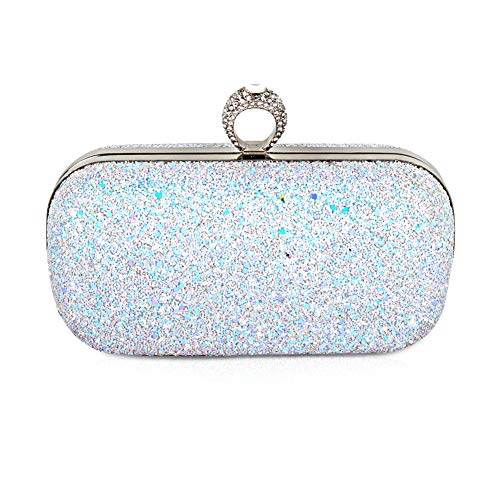 Beautier Multi-color Sparkling Purse Elegant Evening Party Handbags for women ()