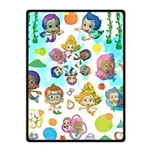 "Bubble Guppies Custom Blankets Couch Blanket Light Weight Sofa Throw Soft Fleece Throw Blanket 58"" X 80"" Large"