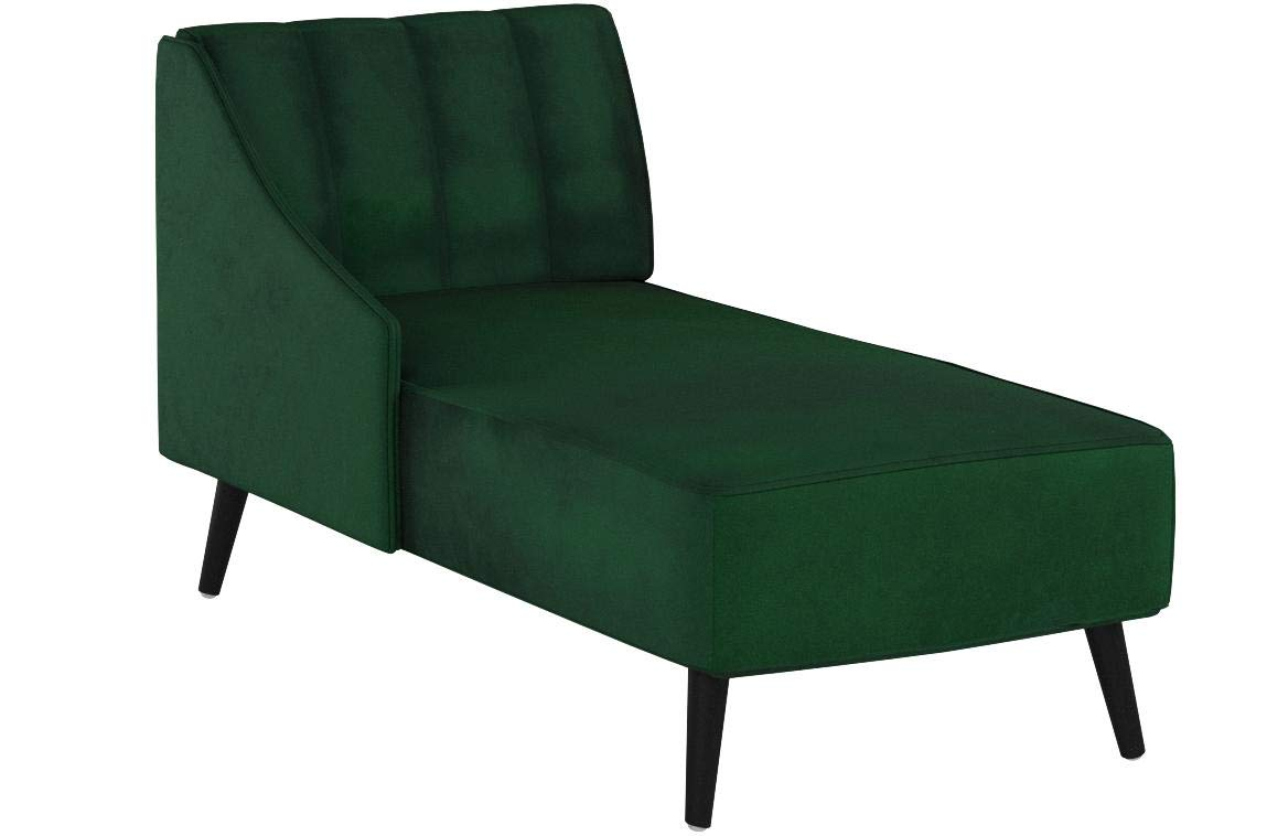 Christopher Knight Home Indira | New Velvet Chaise Lounge, Emerald/Dark Walnut by Christopher Knight Home