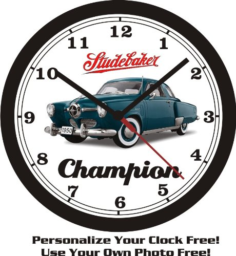 1950 STUDEBAKER CHAMPION COUPE WALL CLOCK-FREE USA SHIP!
