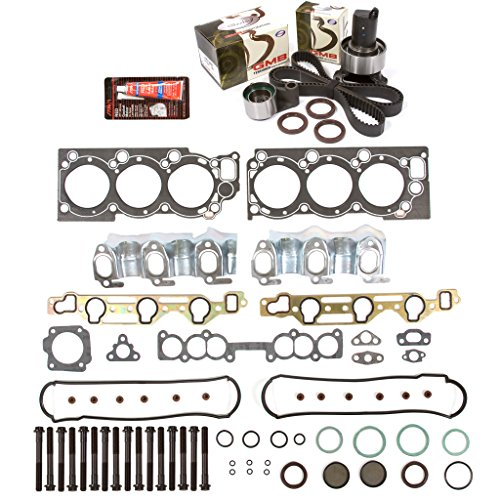 Pickup Cylinder Head Gasket - Evergreen HSHBTBK2030L Head Gasket Set Head Bolts Timing Belt Kit Fits 93-95 Toyota T100 4Runner Pickup 3VZE