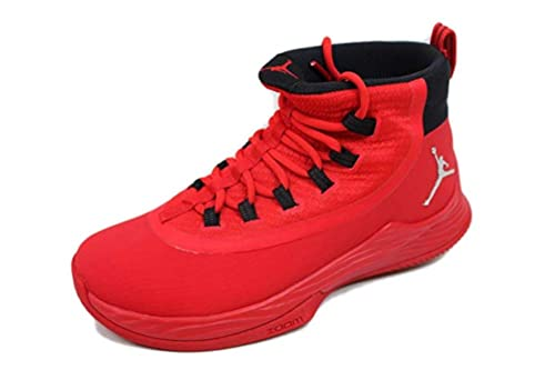 quality design a4681 fe33a Jordan Mens Ultra Fly 2 TB University Red/Black-Action Red-Metallic Silver
