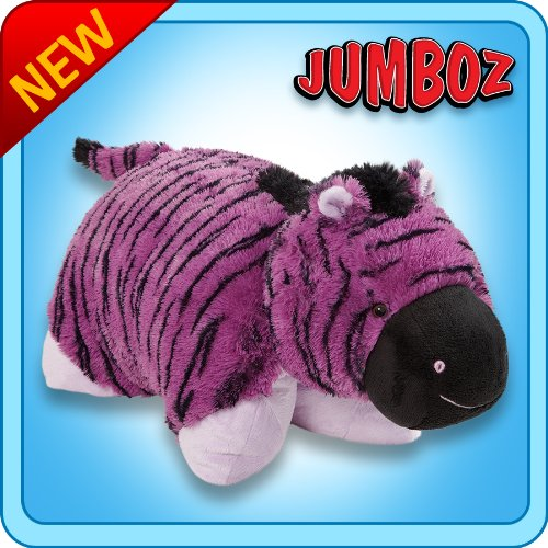 "Pillow Pets Authentic Pillow Pets Zany Zebra Purple/Black Huge XXL 30"" Jumbo Plush Toy Gift"