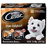 CESAR HOME DELIGHTS 12pack (Beef Stew / Hearty Chicken and Noodle Dinner in Sauce)