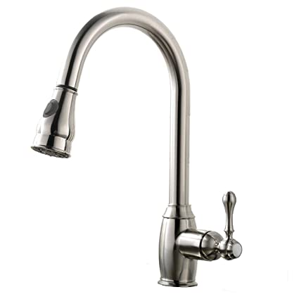 best commercial stainless steel single handle pull down sprayer rh amazon com