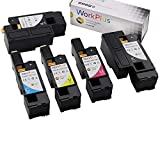 Workplus Toner Replacement for Dell E525W Toner Cartridge 4 + 1