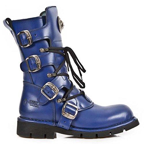 New Rock Laarzen M.1473-c90 Gothic Hardrock Punk Unisex Stiefel Blau