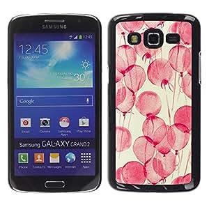 FECELL CITY // Duro Aluminio Pegatina PC Caso decorativo Funda Carcasa de Protección para Samsung Galaxy Grand 2 SM-G7102 SM-G7105 // Flowers Pink Watercolor Yellow