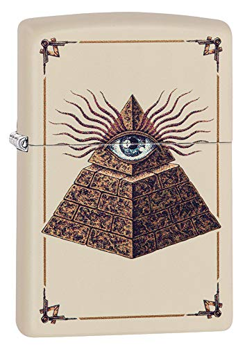 Zippo Eye of Providence Cream Matte Pocket Lighter ()
