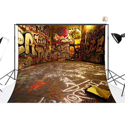 LB 9x6ft Graffiti Poly Fabric Customized photograp...