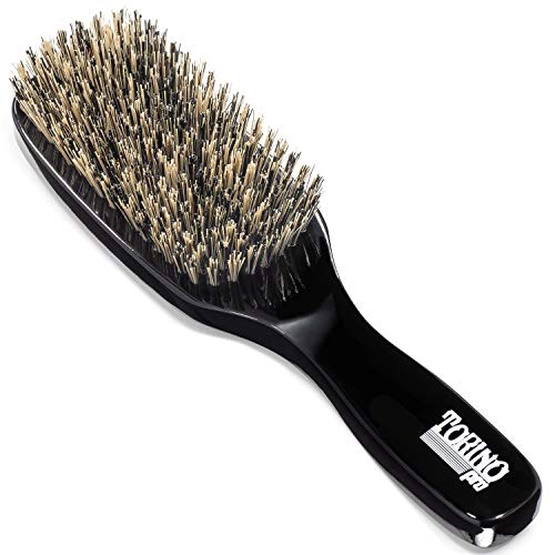 Torino Pro Wave Brushes by Brush King #180 Hard Wave brush for wolfing - Not for fresh cuts or tender headed wavers ()