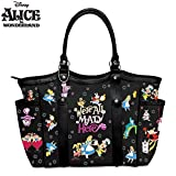 Disney Alice In Wonderland We're All Mad Here Women's Shoulder Tote Handbag by The Bradford Exchange