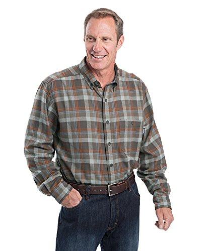 Woolrich Men's Trout Run Flannel Shirt, Boulder, Large