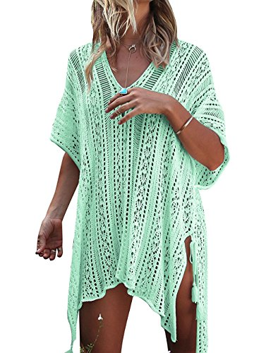 Beach Mint - HARHAY Women's Summer Swimsuit Bikini Beach Swimwear Cover up Mint