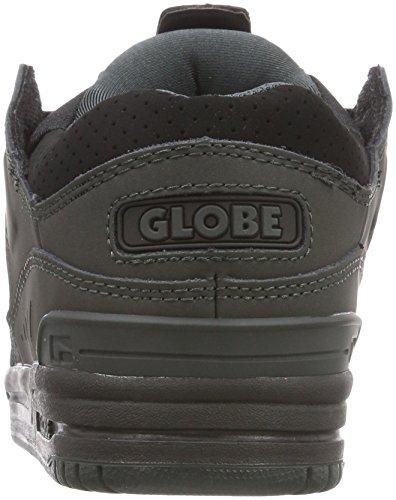 Globe Fusion - Hombre, Punta Redonda, Gris Sintético, Patín, Zapato, Negro, Noche
