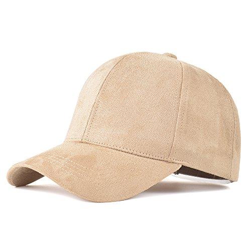 (LIXYIT Snapback Caps Faux Leather Suede Baseball Cap Women Adjustable Casual Low Profile Dad Hat Men Black)