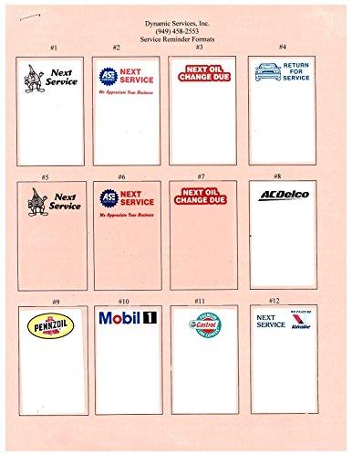 Oil Change Sticker Printer Service Reminder System Buy