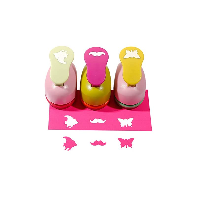 SICOHOME Paper Punch,Bear/Fish/Butterfly