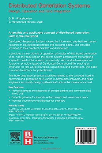 Distributed Generation Systems Design Operation And Grid Integration Gharehpetian Gevork B Mousavi Agah S Mohammad 9780128042083 Books Amazon Ca