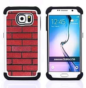 For Samsung Galaxy S6 G9200 - wall red rebel pattern law floyd Dual Layer caso de Shell HUELGA Impacto pata de cabra con im??genes gr??ficas Steam - Funny Shop -