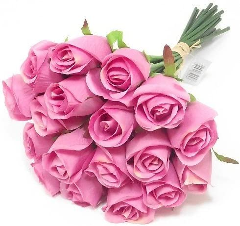 weddings homes grave by A1-Homes Bundle of 18 Artificial Pink Roses 30cm Bunch