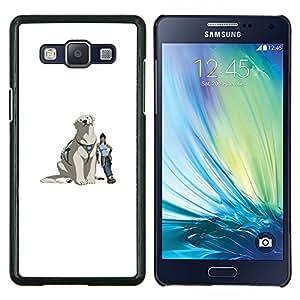 Qstar Arte & diseño plástico duro Fundas Cover Cubre Hard Case Cover para Samsung Galaxy A5 A5000 (Yeti perro)