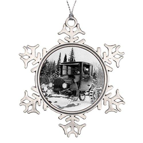 Personalised Christmas Tree Decoration Vintage Model T Ski Car Snow Plow Car History Christmas Decorating Ideas Snow Plow -