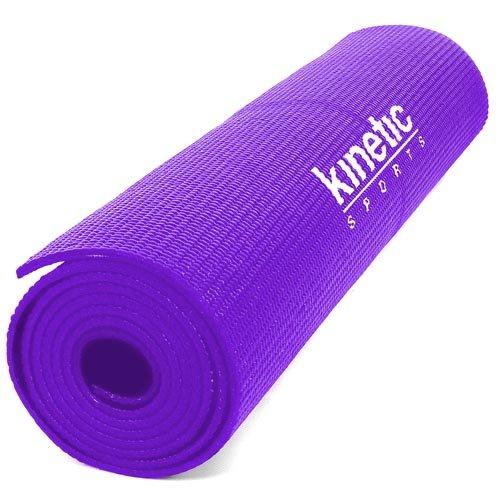 Kinetic Sports YM03 Lila Yogamatte 180 x 60 cm, 5 mm dick