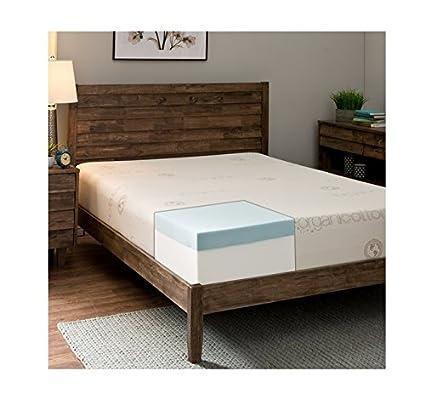 Comodidad Dreams nuevo algodón orgánico 25,4 cm doble colchón de espuma con efecto memoria