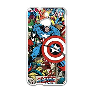 Captain America for HTC One M7 Phone Case Cover CA7155
