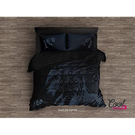Beautiful Horse Duvet Cover By Cool Bedding Horse Bedding Set Of 4 Or 3 Pcs Comforter Upgrade Duvet Cover King Queen Full Single Bedding Sets Black King Set 104 X92