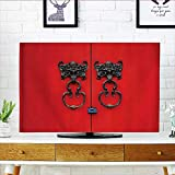 L-QN Television Protector Door Knocker Door Entrance and AnEthnic Cultural Artwork Television Protector W30 x H50 INCH/TV 52''