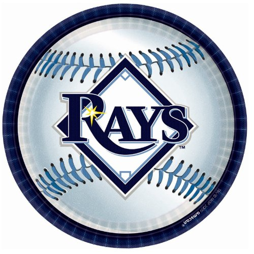 Tampa Bay Rays Party Plates - 18 Ct