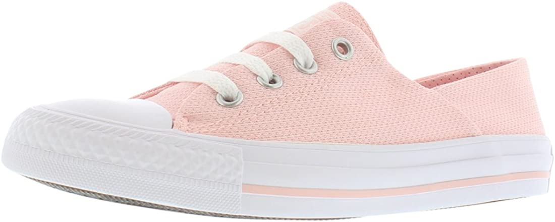 Converse Womens CTAS Coral ox Canvas Low Top Lace Up Fashion, Pink, Size 5.5