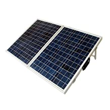 ECO-WORTHY 100 Watt Portable Kits -100W 2x50W Folding PV Solar Panel 12V RV Boat Off Grid with 15A Charge Controller