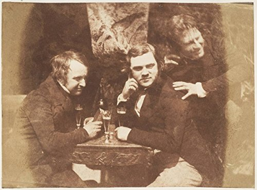 Photograph | Hill and Adamson |Edinburgh Ale James Ballentine, Dr. George Bell, D.O. Hill | Antique Vintage Fine Art Print Reproduction (Edinburgh Ale)