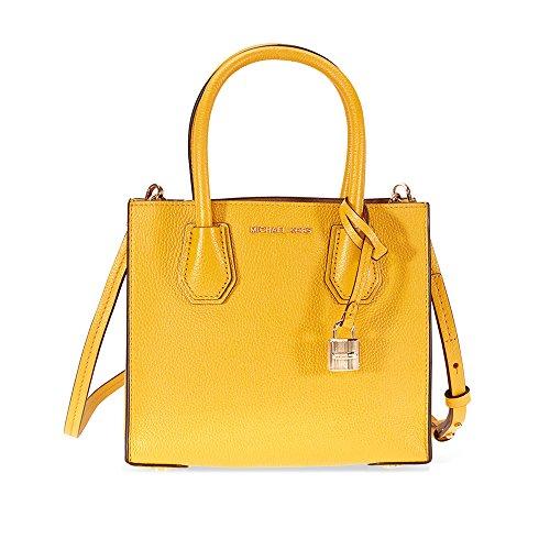 MICHAEL Michael Kors Women's Mini Mercer Tote, Sunflower, One (Yellow Mini Handbag)