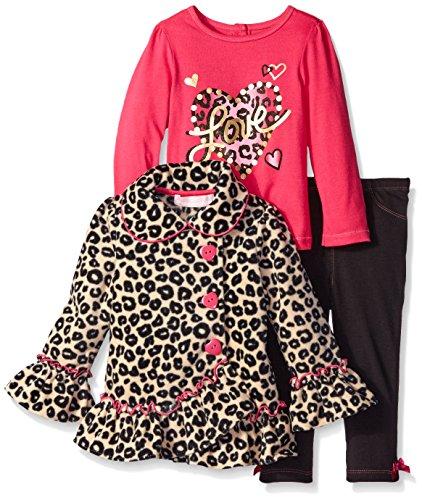 Kids Headquarters Baby Girls' Animal Printed Jacket with Tee