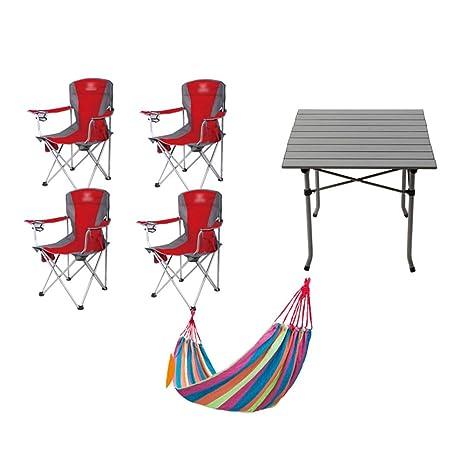 Silla y Mesa Plegables para el Campamento, Festival de Peso ...