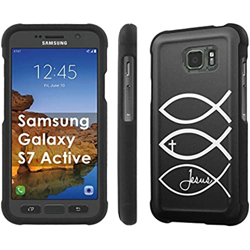 AT&T [Galaxy S7 Active][5.2 Screen] Phone Case [SlickCandy] [Black] Hard Protector Snap Designer Shell Case - [Jesus Christian] for Samsung Galaxy Sales