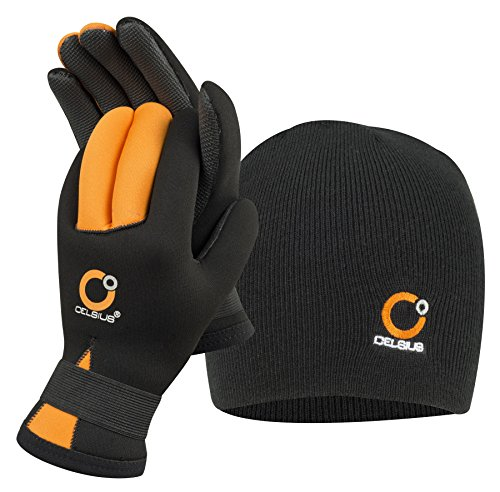 Celsius Deluxe Neoprene Large NG-HAT/L Glove/Hat Combo Waterproof/Velcro Wrist, Clear