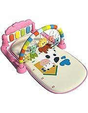 Baby fitness ram fitnessmatta, lekmatta lekmatta lekplats leksak, fot piano sense träning lekfilt leksak, aktivitet gymnastikmatta med hängande leksak för 3–6 – 12 månader gamla spädbarn